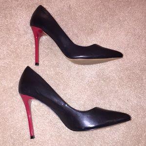 Aldo Shoes - Aldo Black Pumps with red heels